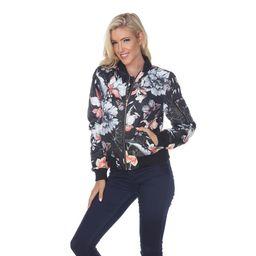 White Mark Women's Floral Bomber Jacket | Overstock