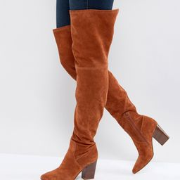 ASOS KOI Suede Over The Knee Boots - Tan | ASOS US