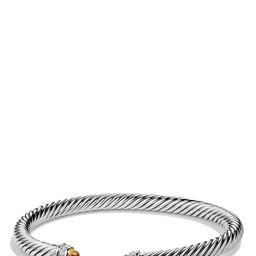 Women's David Yurman Cable Classics Bracelet With Semiprecious Stones & Diamonds, 5Mm   Nordstrom