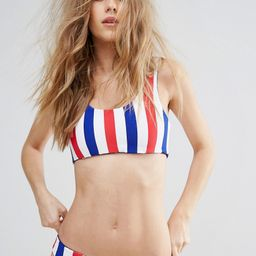 Bikini Lab Reversible Stars Stripes Bralette Bikini Top - Multi | ASOS US