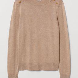 H & M - Fine-knit Sweater - Beige | H&M (US)