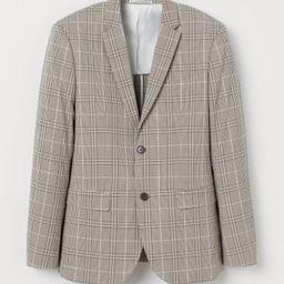 H & M - Slim Fit Checked Blazer - Beige   H&M (US)