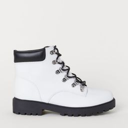 H & M - Pile-lined Boots - White   H&M (US)