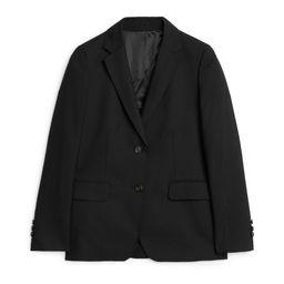 Wool Hopsack Blazer - Black   ARKET