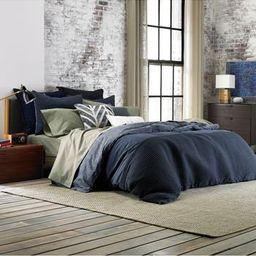 Tommy Hilfiger Vintage Pleated Comforter & Sham Set, Size Twin - Blue | Nordstrom