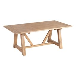 """Wood Leona Farmhouse Extension Dining Table: Natural - Large (73""""L and above) by World Market 