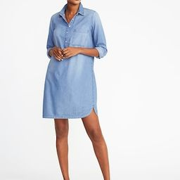 Chambray Shirt Dress for Women   Old Navy US