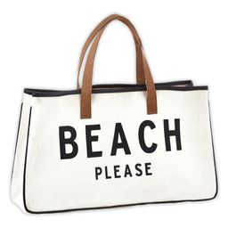 'Beach Please' Oversize Canvas Tote   Zulily