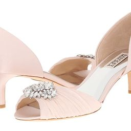 Badgley Mischka Caitlin (Light Pink Satin/Silk) Women's 1-2 inch heel Shoes | 6pm