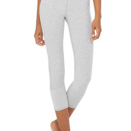 Alo Yoga 7/8 High-Waist Lounge Legging - Zinc Heather - Size XXS - Signature Alosoft Fabric | Alo Yoga