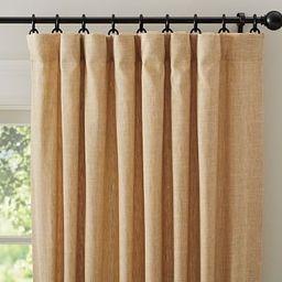 "Emery Linen/Cotton Pole Pocket Curtain, 50 x 108"""", Wheat | Pottery Barn (US)"