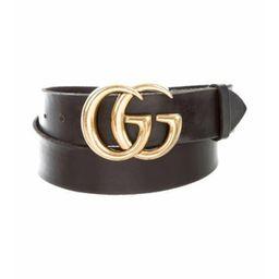 Gucci Marmont GG Leather Belt Black Gucci Marmont GG Leather Belt | The RealReal