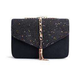 Black Star Tassel Glitter Crossbody Bag | YOINS
