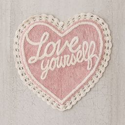 Love Yourself Bath Mat - Pink at Urban Outfitters | Urban Outfitters (US and RoW)