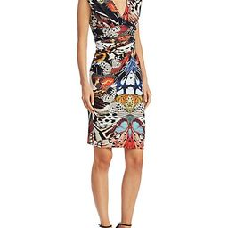Butterfly Printed V-Neck Dress | Saks Fifth Avenue