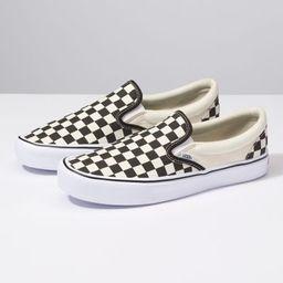 Vans Checkerboard Slip-On Lite (black/classic white)   Vans (US)