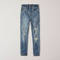Ripped High Rise Ankle Jeans | Abercrombie & Fitch US & UK