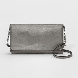 Flat Fold Over Clutch - A New Day Gunmetal (Grey), Women's | Target