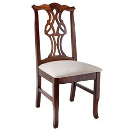 Chippendale Solid Wood Dining Chair Frame Color: Medium Oak   Wayfair North America