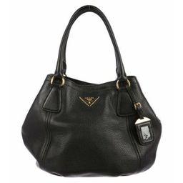 Prada Vitello Daino Shoulder Bag Black Prada Vitello Daino Shoulder Bag   The RealReal