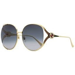 Gucci GG0225S 001 Womens Gold 63 mm Sunglasses | Overstock