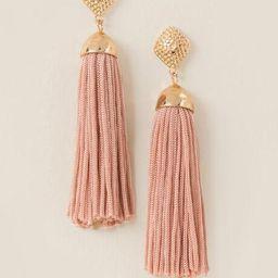 Kyla Tassel Earrings - Mauve | Francesca's Collections