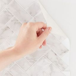 Herringbone Tile Adhesive Backsplash Decal Set - White at Urban Outfitters   Urban Outfitters (US and RoW)
