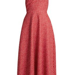 Ruth polka-dot print off-the-shoulder dress   Matchesfashion (Global)