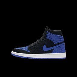 Air Jordan 1 Retro High Flyknit Big Kids' Shoe, by Nike Size 3.5Y (Blue) - Clearance Sale   Nike (US)
