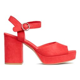 H & M - Platform Sandals - Red   H&M (US)