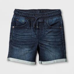 Toddler Boys' Roll Cuff Pull-On Denim Shorts - Cat & Jack Dark Wash 18M, Blue   Target