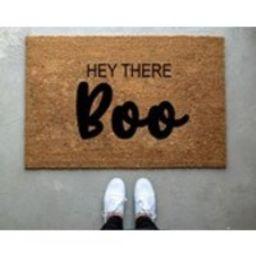 Hey there Boo doormat, pumpkin, fall decor, personalized doormat, custom doormat, welcome mat, front door mat, fall yall, halloween doormat | Etsy (US)