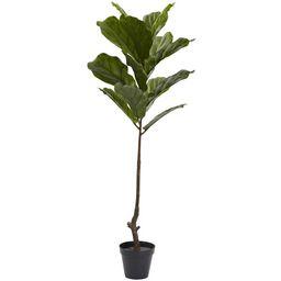 4-foot Fiddle Leaf Tree UV Resistant (Indoor/Outdoor)   Overstock