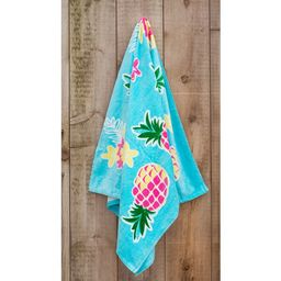 St.Tropez Sands Collection Yellow Pink  Pineapple Beach Towel - 36 x 70 | Overstock