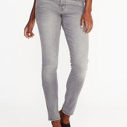 Old Navy Womens Mid-Rise Curvy Skinny Gray Jeans For Women Silver Size 12 | Old Navy US