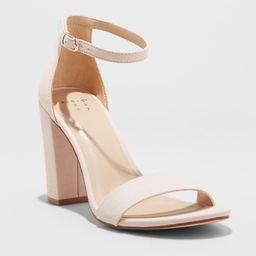 Women's Ema High Block Heel Pumps - A New Day Blush 8.5 | Target