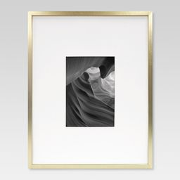Metal Single Image Matted Frame 5X7- Brass - Project 62, Gold Beige   Target