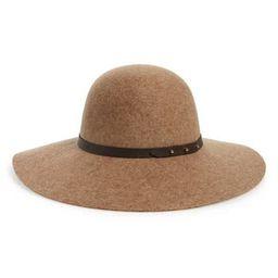 Women's Halogen Refined Wide Brim Felt Floppy Hat - Brown   Nordstrom