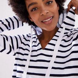 LOFT Striped Pullover Hoodie | LOFT