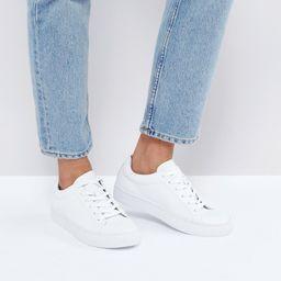 Vagabond Zoe Leather Sneakers in White - White   ASOS US