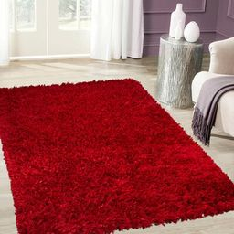"Handmade Red Area Rug Rug Size: 4'11"" x 6'11""   Wayfair North America"