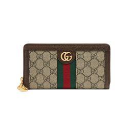 Gucci Ophidia GG zip around wallet - Neutrals | FarFetch US
