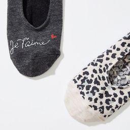 LOFT Je T'Aime & Leopard No Show Sock Set | LOFT