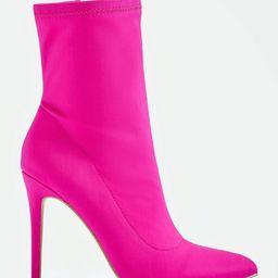 JustFab Booties Illiana Bootie Womens Pink Size 5.5 | JustFab