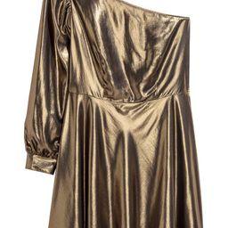 H & M - H & M+ Shimmery Dress - Gold | H&M (US)