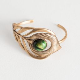 Cutout Feather Arm Cuff - Gold   & Other Stories