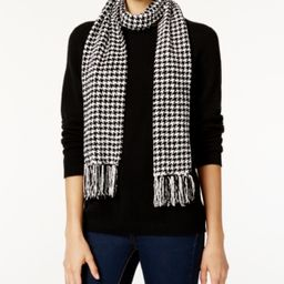 Charter Club Houndstooth Chenille Woven Scarf, Created for Macy's | Macys (US)