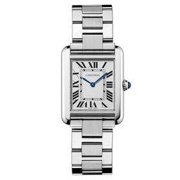 Cartier Women's W5200013 'Tank Solo' Stainless Steel Watch | Overstock