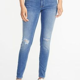 Old Navy Womens Mid-Rise Distressed Rockstar Super Skinny Jeans For Women Light Wash Size 0 | Old Navy US