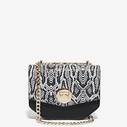 Express Womens Snake Print Turnlock Chain Shoulder Bag | Express
